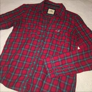 Hollister country plaid flannel shirt large